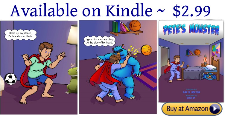 Pete's Monster available on Kindle new image